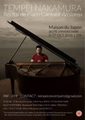 Tempei Nakamura - Charity Piano Concert in Paris «Visions»
